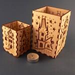 Produkty drewniane - lampiony